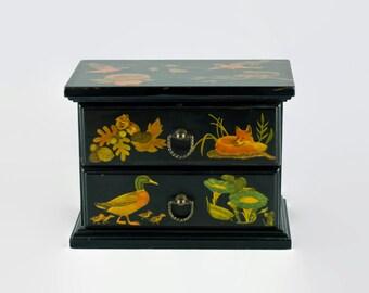 Vintage Decoupage Miniature Chest