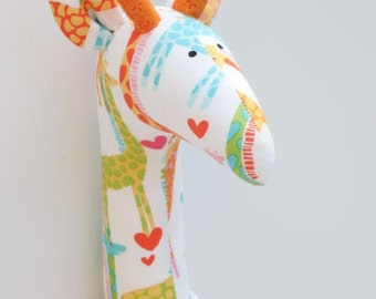 Stuffed giraffe plush softie cute giraffe toy orange white yellow toy for little children for girl boy birthday gift baby shower