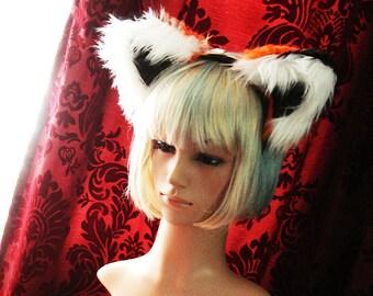Fox Ears Headband Faux Fur Orange Fox Ears
