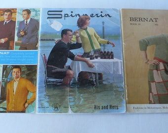 vintage group of knitting books 1960's from Diz Has Neat Stuff