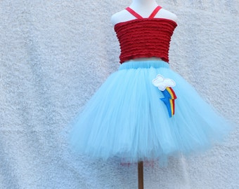 Rainbow Dash Tutu Skirt - Rainbow dash skirt -mlp - Rainbow dash birthday - mlpfim - My Little  Pony - Rainbow Dash Costume - MLP party