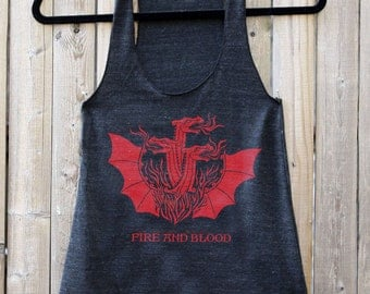 Game of Thrones // Targaryen FIRE & BLOOD // Women's Racerback Tank