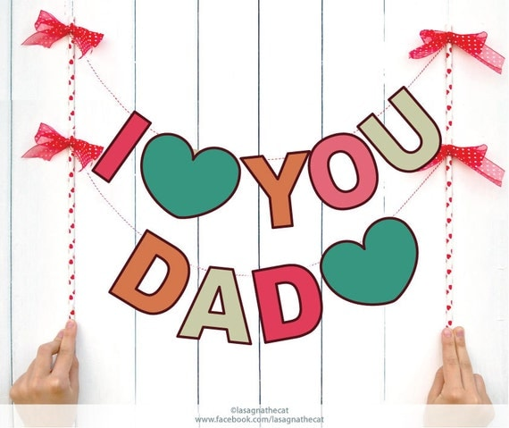 Instant download i love you dad diy two letter hipster - I love you daddy download ...