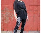 Midnight Hot Air Balloon Leggings,  Womens Leggings,  hot air balloon illustrations, art clothing, printed leggings, balloon tights,