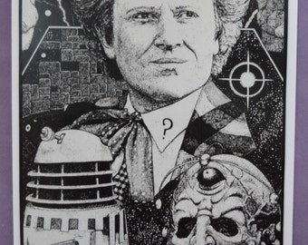 Dr Who Blank Card Upcycled OOAK