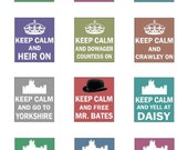 Keep Calm DOWNTON ABBEY / Scrabble Tile Images / .75 x .83 / Crawley, Carson, Countess, Bates, Grantham, Earl, Heir, Mary / Instant Download