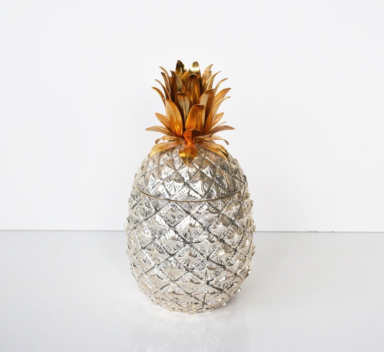 Vintage Silver Pineapple Ice Bucket Italian Pineapple Ice