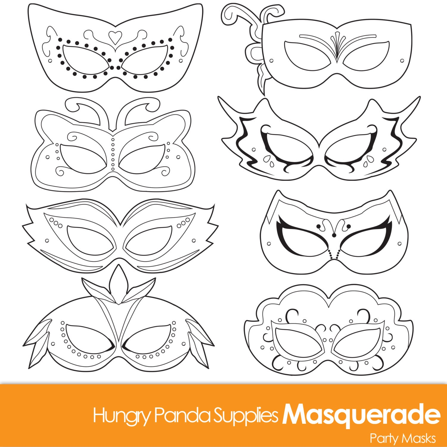 This is an image of Unusual Printable Masks for Kids