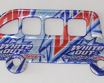 School Bus Magnet - White Out Mountain Dew Soda Can