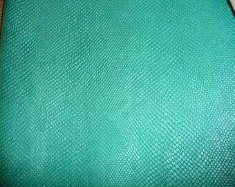 "Leather 8""x10"" Amazon Cobra Pearlized Sea Aqua Mint Cowhide Hide 2.5 oz / 1 mm PeggySueAlso™ E2972-04"