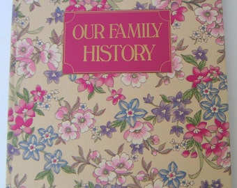 Vintage Ancestry Book,Our Family History,Genealogy,Keepsake,Record Keeping,Christmas Gift.