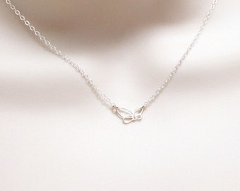 Dainty Butterfly Necklace, Delicate Necklace, Minimalist Necklace, Tiny Silver Necklace, Nature Necklace, Petite Jewelry, Sideways Butterfly