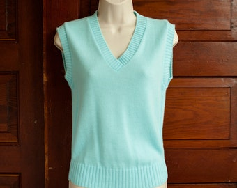 Light Blue Sweater Vest - JAMKNITS