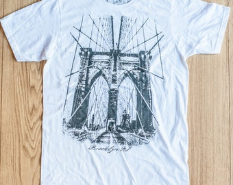 Brooklyn Bridge -100% Ring Spun Cotton Short Sleeve Crew Neck 4.1 Ounces