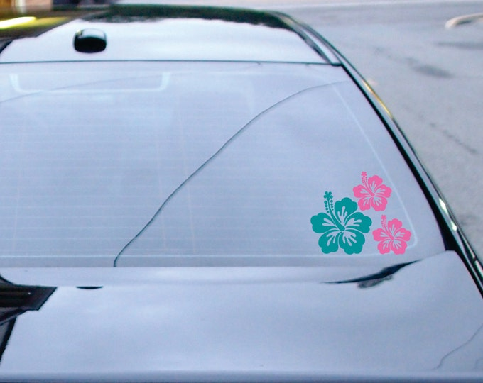 Car Decal - Hibiscus Car Decal - Car Stickers for your Car - Small Wall Decals