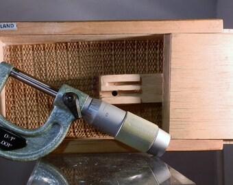 "Vintage Machinist Measurment Tool 1"" X .001 Polish Carbide Tipped Machinist Quality Measuring Micrometer DanPickedMinerals"