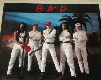 B.A.D. 1986 vinyl, No.IO, Upping St. Lp album, very good condition album, cover and inside jacket