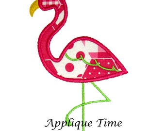 Instant Download Flamingo Machine Embroidery Applique Design 4x4, 5x7 and 6x10