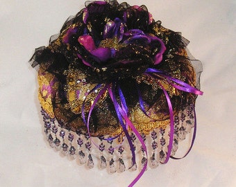 Gypsy Princess purple, gold brocade ringbearer pillow