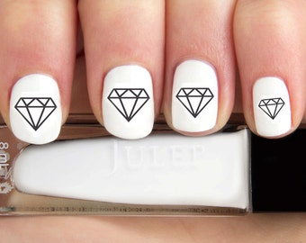Outline Diamond Nail Decals-24 ct.