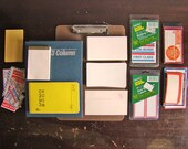 vintage office paper ephemera instant collection / New Year get organized