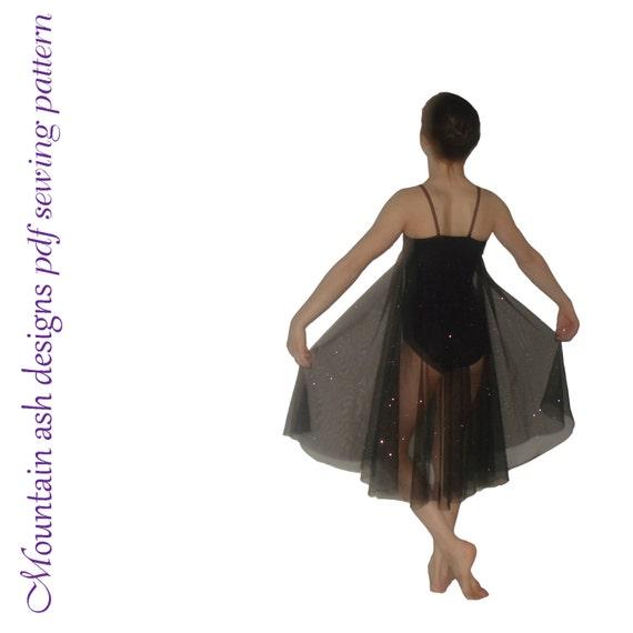 Olivia pdf sewing pattern gymnastics ballet dance leotard dress costume girls sizes 2-14