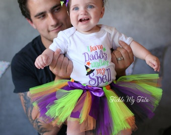 I Have Daddy Under My Spell Tutu Outfit-My First Halloween Tutu Outfit-Halloween Pageant Outfit-Halloween Costume *Bow NOT Included*