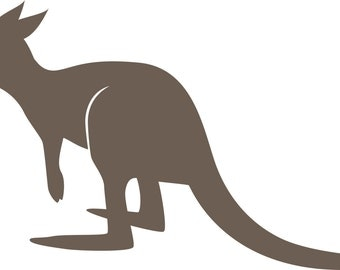 Kangaroo wall decal -- wall decals - nursery decal - vinyl wall decal