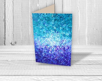 Greeting Card - Abstract Art Greeting Card - Birthday Card - Touch the Sky - Blank Greeting Card