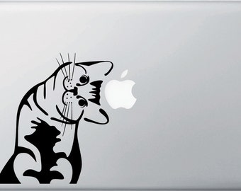 """MB - I Can Haz Cat - Leaning Right - Vinyl Decal for Macbooks 