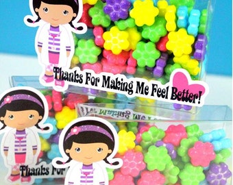 Doc Girl Medicine Doctor Thank You Candy Favor Boxes
