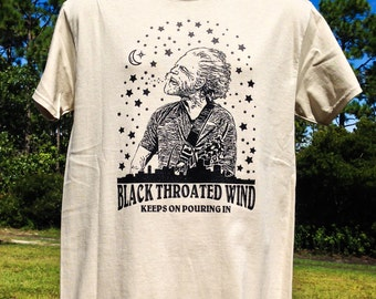 Black Throated Wind Bob Weir T Shirt  / Mongo Arts / Super Soft ECO Friendly Tultex Brand Shakedown Lot T Shirt