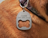 Personalized Dog Collar ID Tag Bottle Opener
