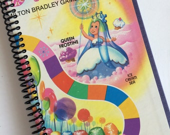 CANDYLAND spiral notebook journal Made from an actual game board Vintage Style