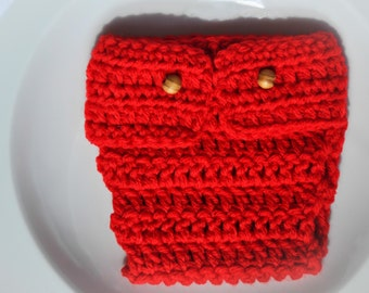 Cherry Red NEWBORN Diaper COVER - Photography Prop - Gift