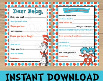 Dr Seuss Baby Shower Games - Buy one get one FREE