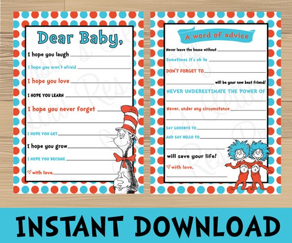 dr seuss baby shower games buy one get one free