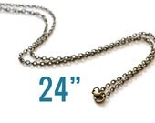 """4 Bronze Necklaces - WHOLESALE - Textured Cable Chains - 3.5x2.5mm - 24"""" - Ships IMMEDIATELY  from California - CH336"""