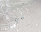 Swarovski Crystal Hoop Earrings, Pick a Color, Bridesmaids Gifts