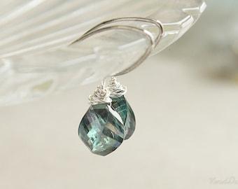 Mystic Green Quartz Earrings, Simple Green Jewelry, WeddingJewelry, Bridesmaids Earrings, May Birthstone Jewelry