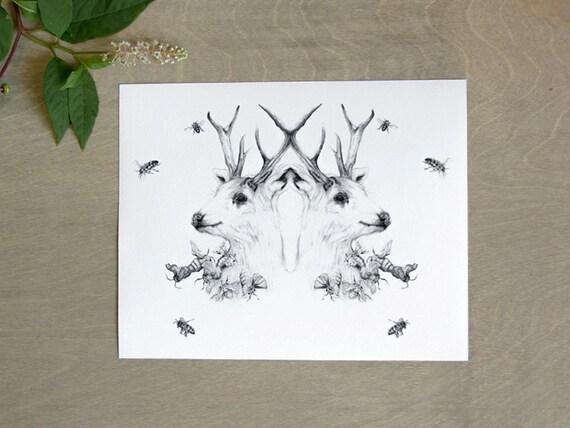 Nature Rorschach Print 8x10