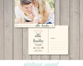 Save the Date Postcard / Magnet (Printable) by Vintage Sweet