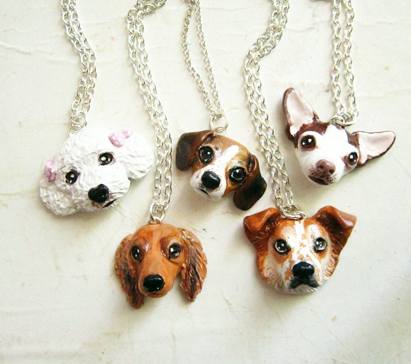 Custom Dog Necklace or brooch Pet portrait pet jewelry-Price