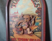 Reserved Vintage Hand Painted Toys and Games Sign