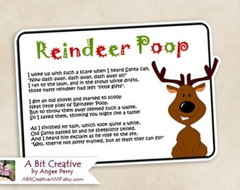 Reindeer Poop Christmas Stocking Stuffer Gag Gift Design - DIY Printable