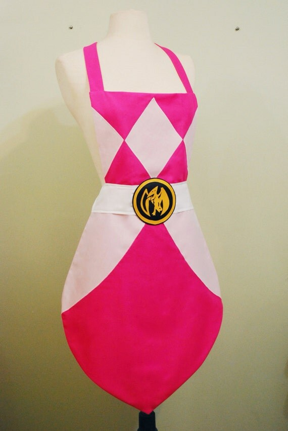 SALE - Pink Power Ranger Apron
