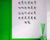 Sign language alphabet -medium size