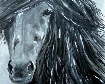 Horse Portrait-Print 8x10