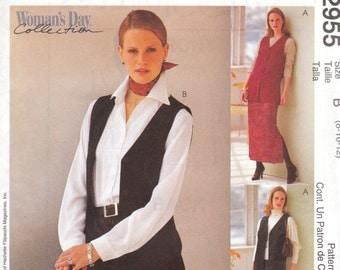 Vest, Straight Skirt & Pants Pattern McCalls 2955 Size 8 10 12 Uncut