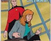Vintage Comic Book Star Trek The Next Generation Number 63 September 1994 DC Comics, USS Enterprise, Captain Picard, Data, Worf, Riker, Troi